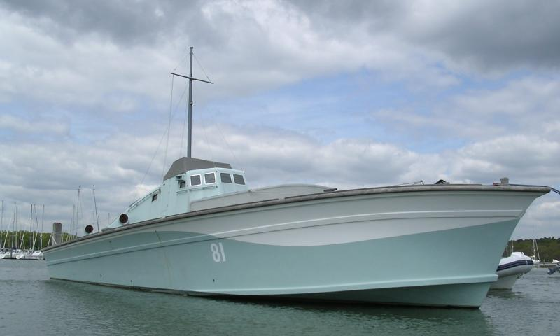 MGB 81 - starboard bow