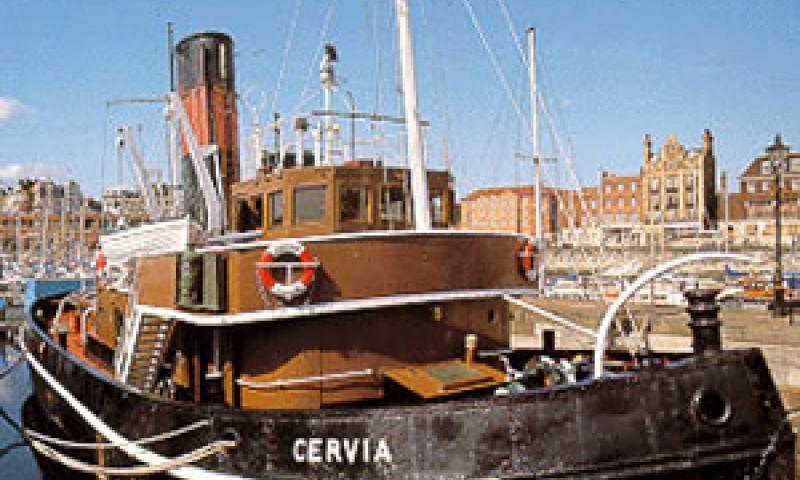 CERVIA - at Ramsgate. Starboard bow looking aft.