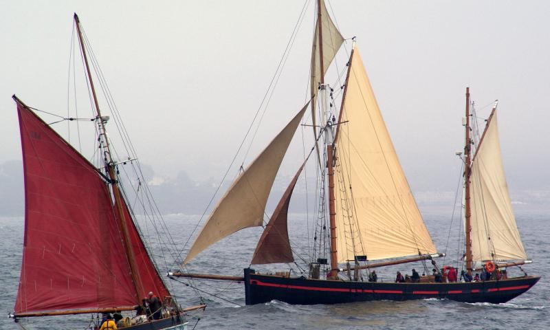 Photo Comp 2012 entry: Brixham sailing trawlers - Golden Vanity & Leader
