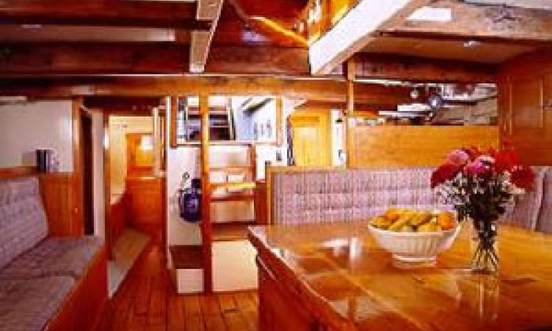 PROVIDENT - saloon looking aft.
