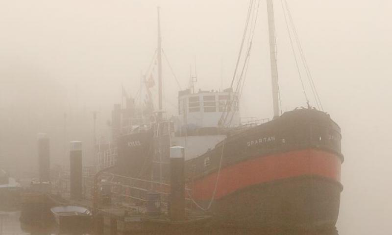 Spartan in Irvine Harbour mist - Photo Comp 2011 entry