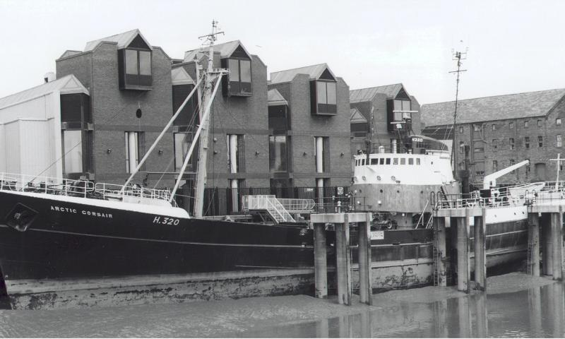 Artic Corsair - berthed in the River Hull alongside the jetty on the west bank