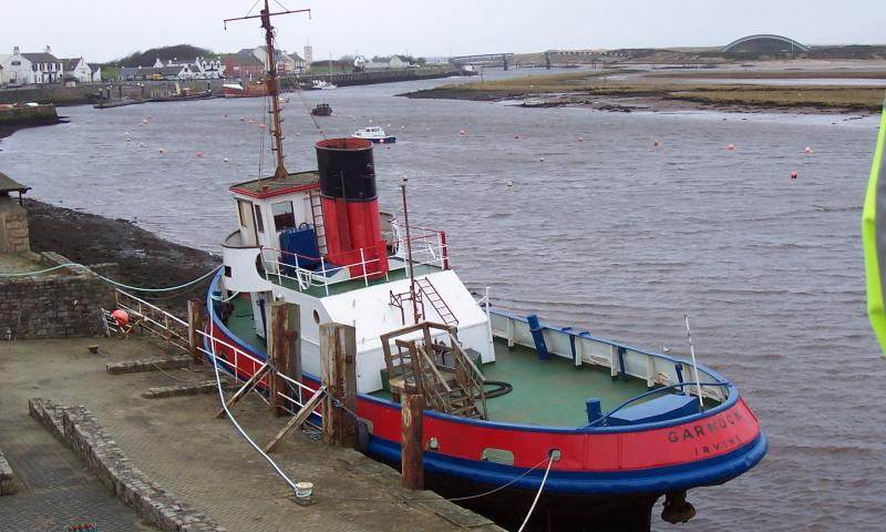 Garnock - stern and port side onto the dock