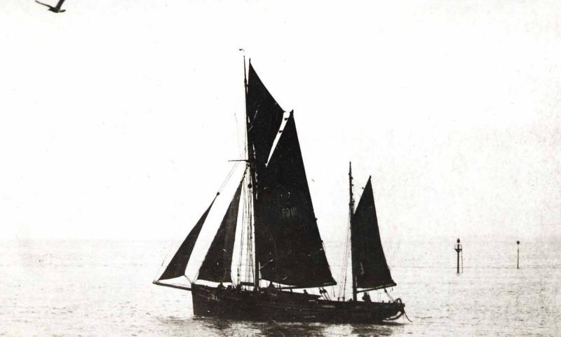 Harriet under sail