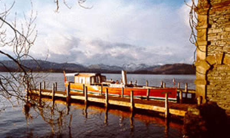 SHAMROCK - at Langdale Chase Boathouse in 1993. Starboard side.