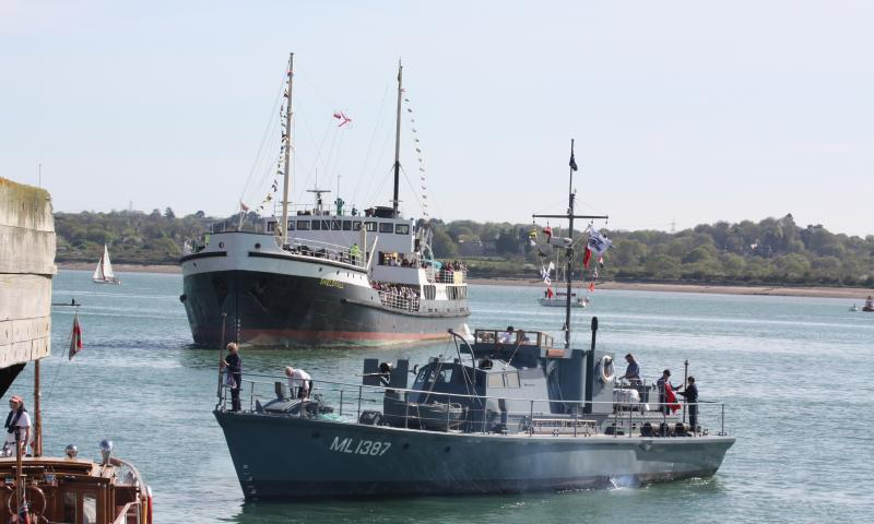 Medusa and Shieldhall - at Southampton Maritime Festival, May 2013