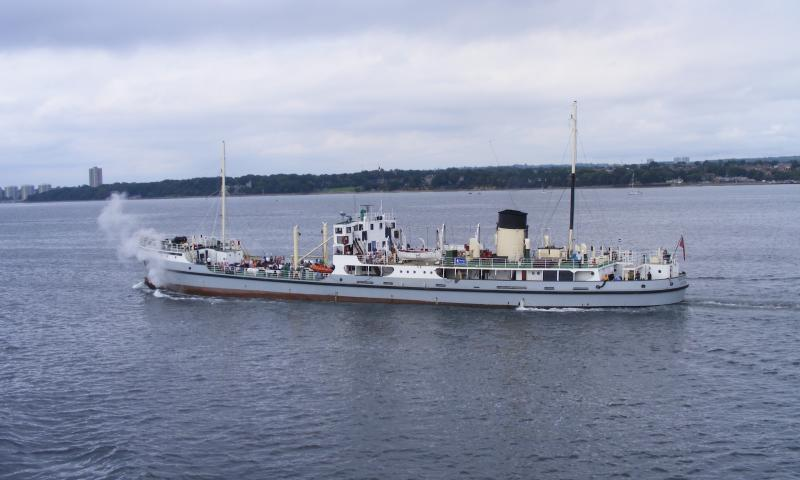 SS Shieldhall - underway, port side view