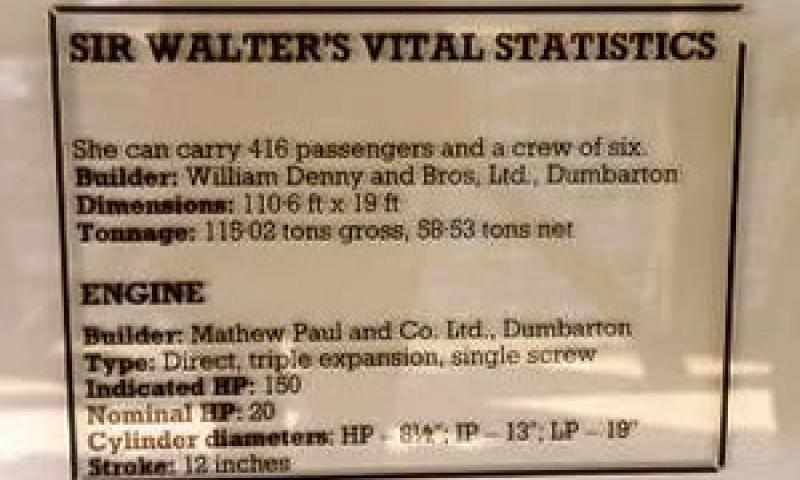 SIR WALTER SCOTT - interpretation sign (vital statisitics).