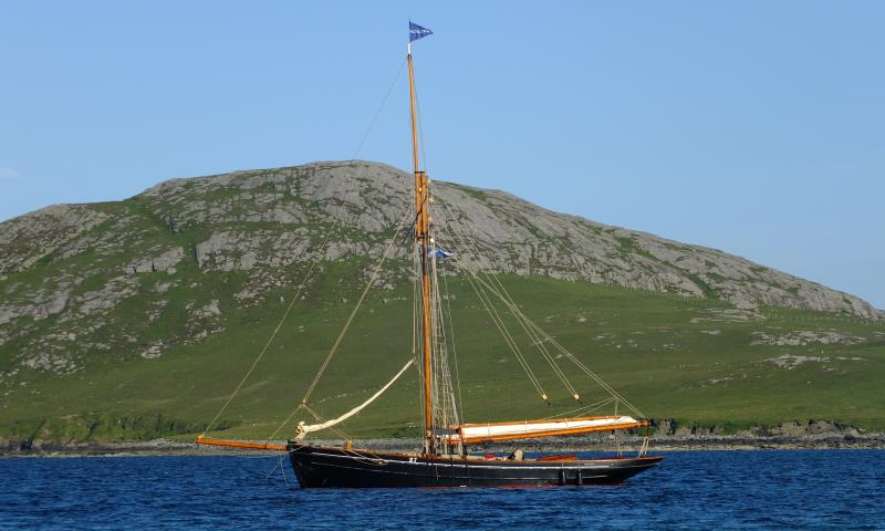 Photo Comp 2012 entry: Mascotte - at anchor, Vatersay