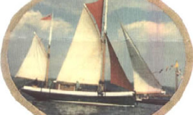 OUR LIZZIE under sail - starboard side view