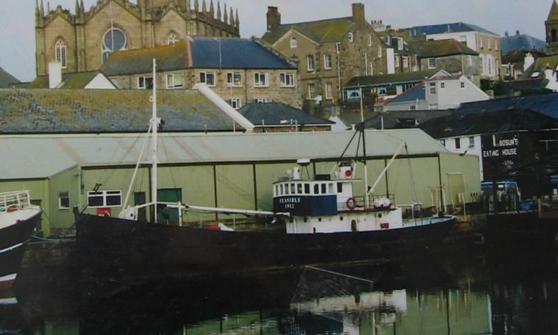 Feasible port side - moored at Penzance
