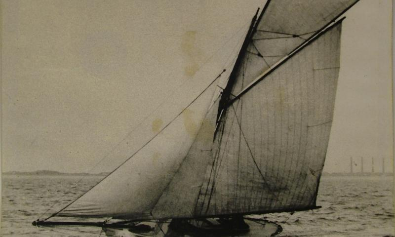 White Rose under sail - port side view