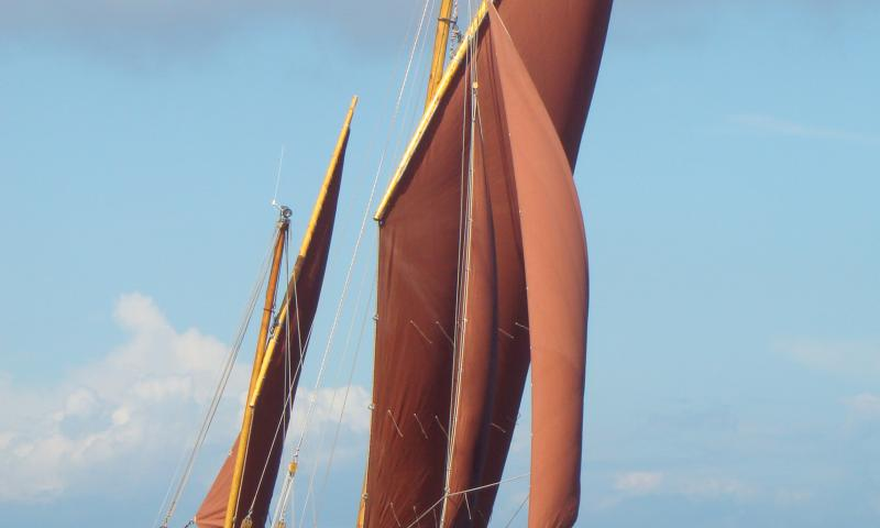White Heather - under sail