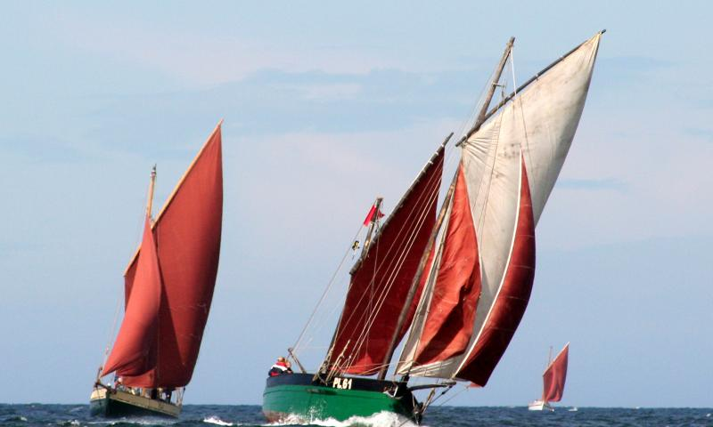 White Heather - under sail, Peel 2008