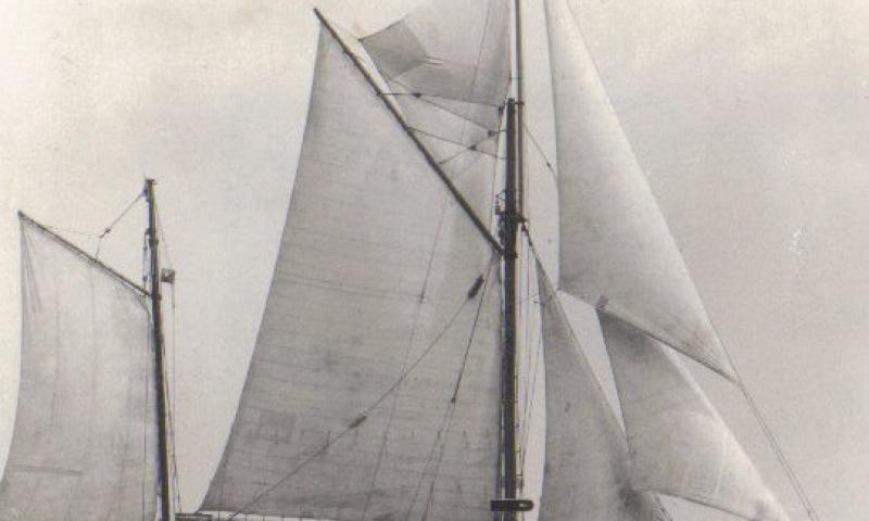 NELL - under sail - starboard side.