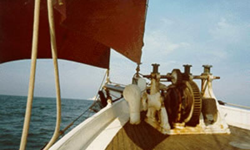 NELL - foredeck with windlass.