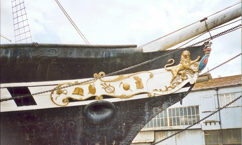 Great Britain - bow view and figurehead