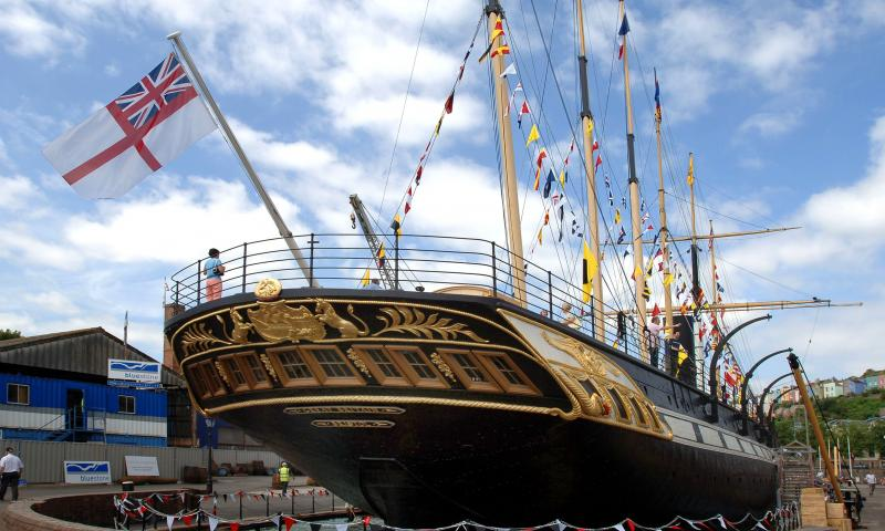 ss Great Britain - stern view