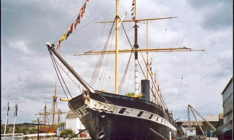 Great Britain in dock - bow view