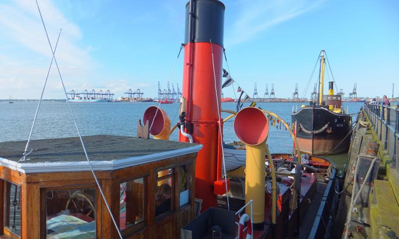 Photo Comp 2012 entry: S.T. Portwey & Vic 56 in the sun at Harwich awaiting the festival crowds.