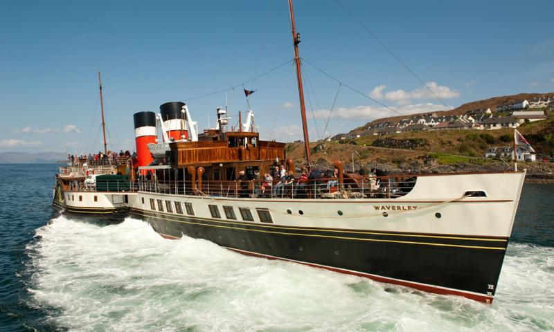 Paddle Steamer Waverley going astern out of Mallaig Harbour - Photo Comp 2011 entry