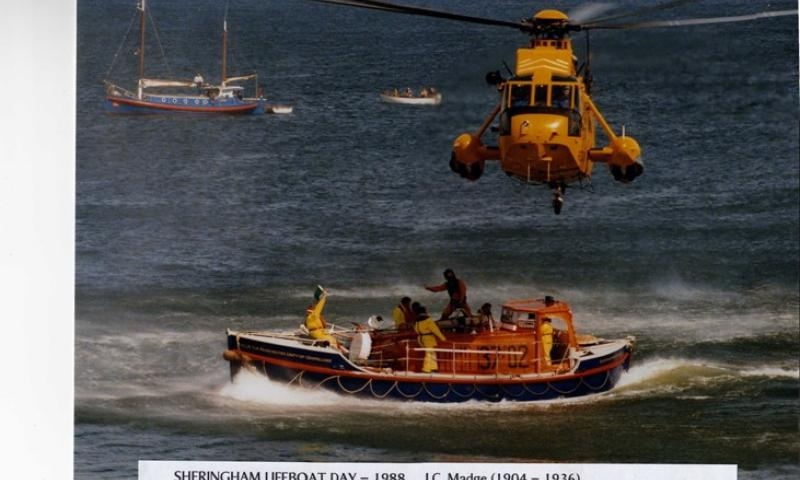 At Sheringham Lifeboat Day 1986